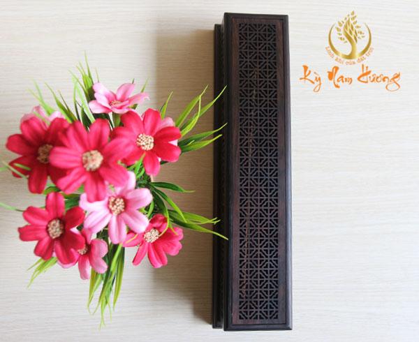 Đế xông trầm hương bằng gỗ - hình chữ nhật